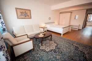 Posezení v ubytování Hotelové Apartmá Černý Jezdec