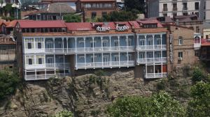 A bird's-eye view of Old Metekhi Hotel