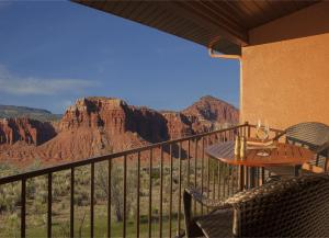 A balcony or terrace at Capitol Reef Resort
