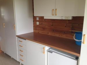 Ett kök eller pentry på Norrköpings Camping