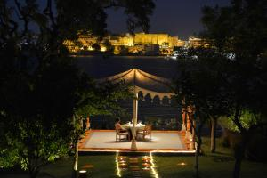 A restaurant or other place to eat at The Oberoi Udaivilas Udaipur