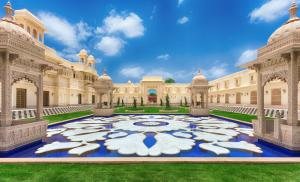 The swimming pool at or near The Oberoi Udaivilas Udaipur