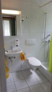 Ein Badezimmer in der Unterkunft Hotel Fluematte