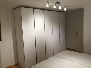 A bed or beds in a room at Ferienwohnung Kaulberg