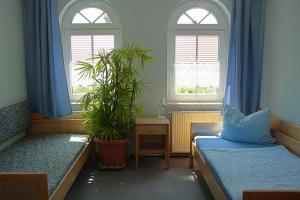 Ein Sitzbereich in der Unterkunft Werners Landgasthaus
