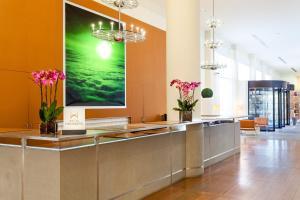 The lobby or reception area at Hilton Garden Inn Florence Novoli