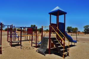 Children's play area at BIG4 Stuart Range Outback Resort