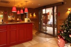 The lobby or reception area at Hotel Beaucour
