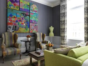 A seating area at Covent Garden Hotel, Firmdale Hotels