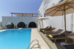 The swimming pool at or near Hotel Semeli