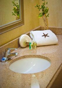 A bathroom at Holiday Inn Arlington at Ballston, an IHG Hotel