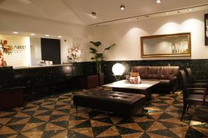 The lobby or reception area at Hotel Abest Meguro
