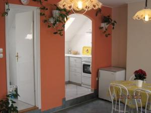 A kitchen or kitchenette at Fured Apartments