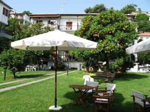 A garden outside Hotel Marina