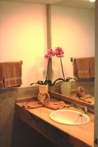 A bathroom at Apartamentos Matorral
