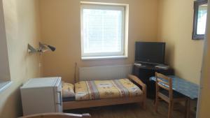 Кровать или кровати в номере Ubytovanie v súkromí Mária Bullová