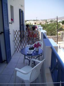 Balcon ou terrasse dans l'établissement Ancient Thera Studios