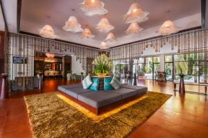 The lobby or reception area at Lotus Blanc Resort