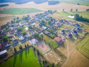 Letecký snímek ubytování Hotel-Restaurant U Švábků