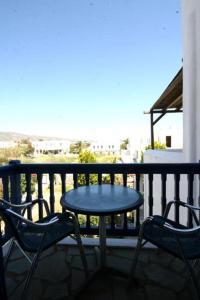 A balcony or terrace at Deep Blue Studios