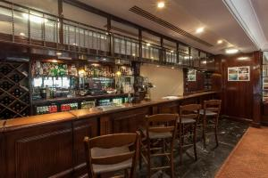 The lounge or bar area at Hampstead Britannia