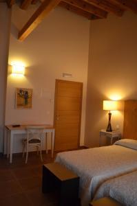 Cama o camas de una habitación en Hotel rural Los Manzanos