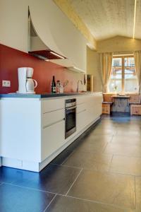 Küche/Küchenzeile in der Unterkunft Ratzeshof