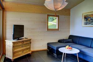 Ein Sitzbereich in der Unterkunft Ratzeshof