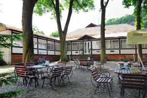 A restaurant or other place to eat at Hotel Praha Potštejn