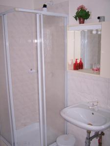 Koupelna v ubytování Penzion Eva