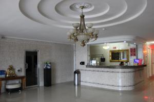 The lobby or reception area at Hotel Parador