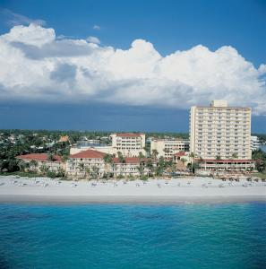 A bird's-eye view of La Playa Beach & Golf Resort, a Noble House Resort
