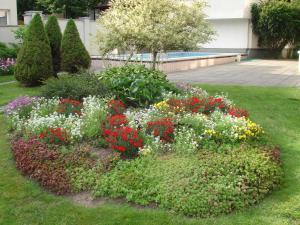 Vonkajšia záhrada v ubytovaní Guesthouse Marija