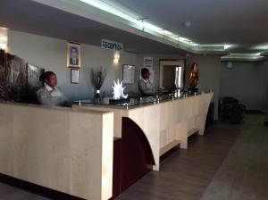 The lobby or reception area at Aquarian Tide Hotel 蓝汐酒店