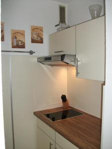 Küche/Küchenzeile in der Unterkunft Ferienwohnung Christa