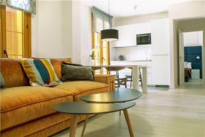 Zona de estar de Santa Cruz Apartments