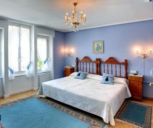 Cama o camas de una habitación en Villa La Argentina