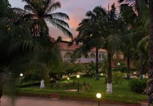 A garden outside Dunia Hôtel Bissau