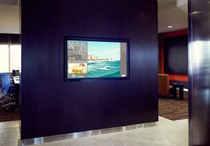 A television and/or entertainment center at Courtyard by Marriott Gatlinburg Downtown