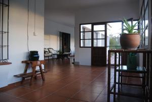 Una televisión o centro de entretenimiento en Hacienda Santa Lucía