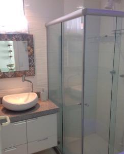 Um banheiro em Flat 608 Villa Hípica - Gravatá