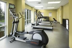 The fitness center and/or fitness facilities at Fairfield Inn & Suites by Marriott Calgary Downtown