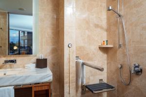A bathroom at Hilton Kyiv