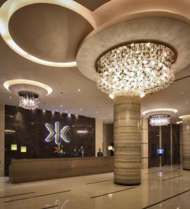 The lobby or reception area at Limketkai Luxe Hotel
