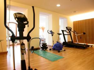 Das Fitnesscenter und/oder die Fitnesseinrichtungen in der Unterkunft Seehüter's Hotel Seerose