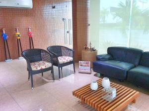 Uma área de estar em Hotel Veraneio