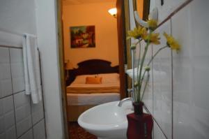 A bathroom at Posada Fuente Castalia