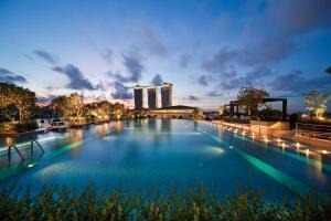 Der Swimmingpool an oder in der Nähe von The Fullerton Bay Hotel Singapore (SG Clean, Staycation Approved)