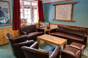 A seating area at YHA Borrowdale