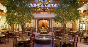A restaurant or other place to eat at La Fonda on the Plaza